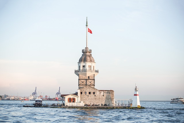 Istanbul, Maiden Tower, Turkey, Tourism, Sunset