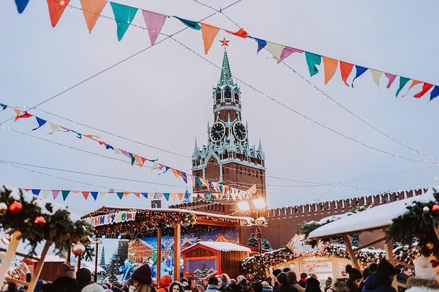 The Kremlin, Fair, Red, Area, Moscow, Russia, Tourism