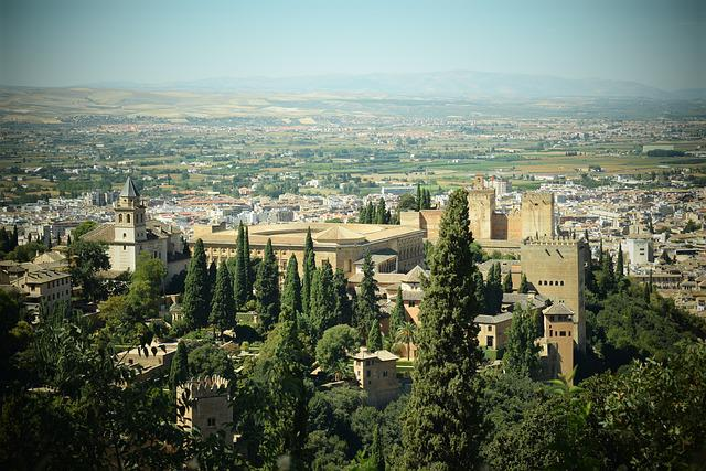 Monuments, Travel, Alhambra, Granada, Tourism