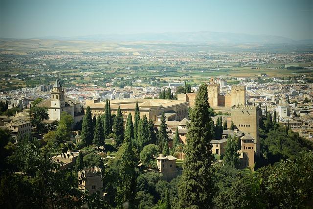 Monuments, Travel, Alhambra, Granada, Tourism