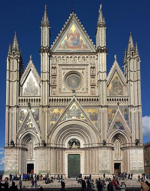 Duomo, Orvieto, Church, Gothic, Italy, Umbria, Tourism
