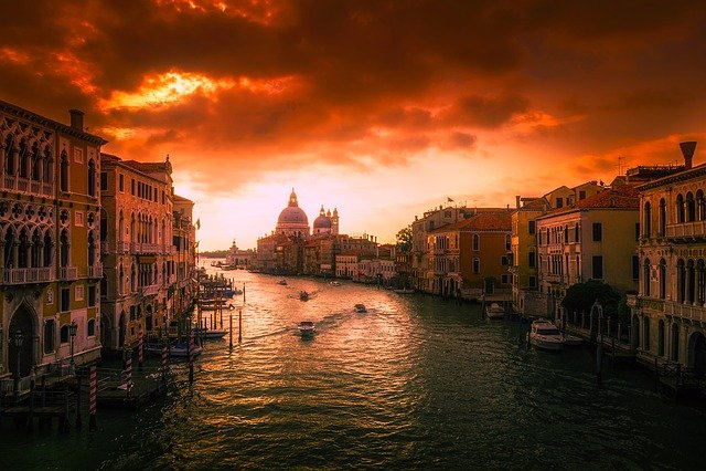 Grand Canal, Venice, Italy, City, Tourism, Venetian