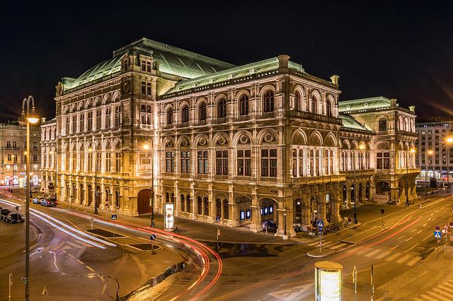 Building, Night, Travel, Vienna, Staatsoper, Tourism