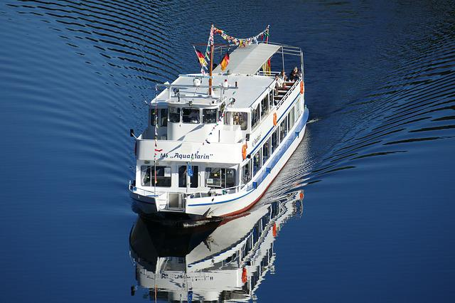 Tourist Ship, Oker, Water, Nature, Landscape, River