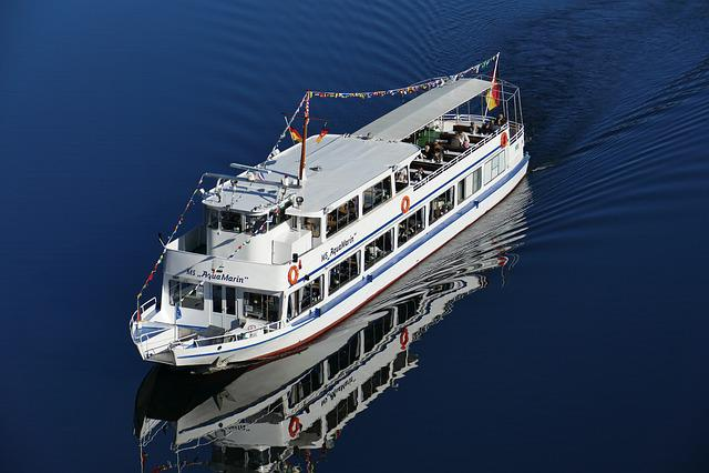 Tourist Ship, Oker, Water, Nature, Landscape, River