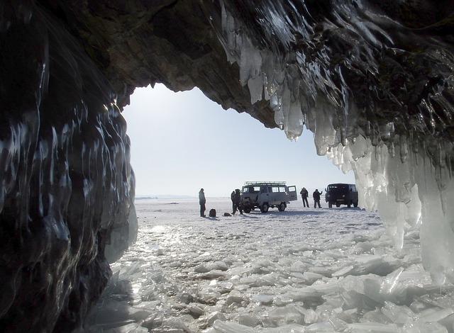 Baikal, Lake, Cave, Ice, Naples, Icicles, Tourists