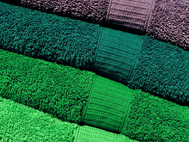 Towels, Green, Grey, Colorful, Structure, Color, Soft