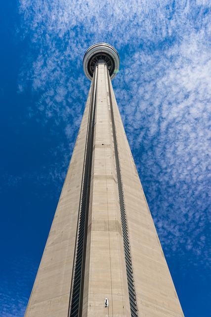 Toronto, Architecture, Skyscraper, Blue Sky, Tower