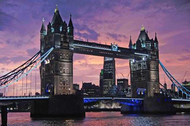 Tower Bridge, Bridge, Sunset, Architecture, Structure