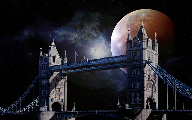 Tower Bridge, London, England, Brexit, Clouds, Sky