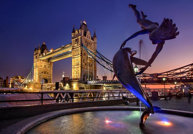 London, Tower Bridge, England, Monument, River Thames