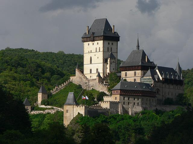 Castle, Karlstejn, Charles, Czech, Republic, Tower