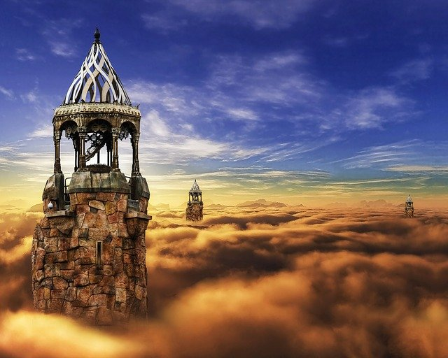 Fantasy, Castle, Cloud, Sky, Tower, Fairy, Medieval