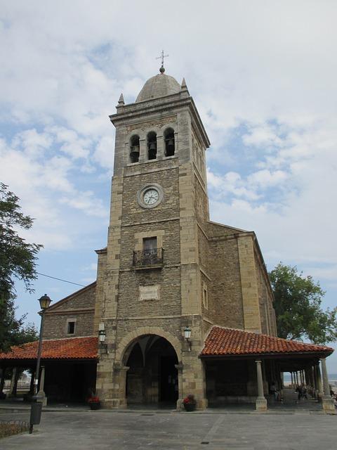 Asturias, Luanco, Church, Monument, Historical, Tower