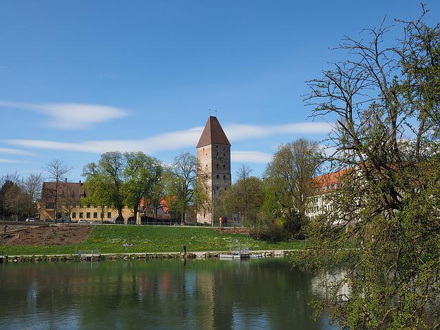 Goose Tower, Tower, Ulm, Danube, River, Building