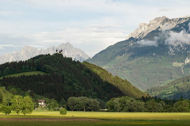 Alps, Mountains, Towers, Church