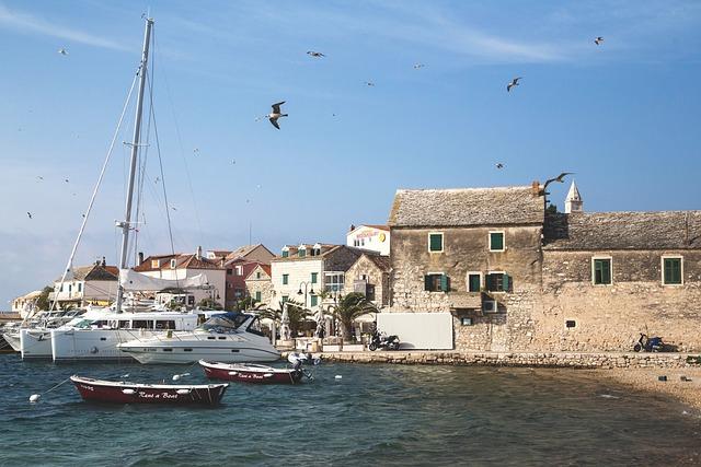 Croatia, Sea, Primosten, Boats, Shore, Town, Seaside