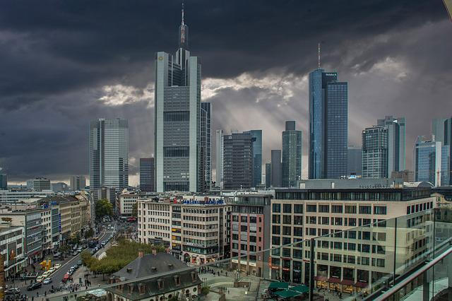 Frankfurt, Skyline, Town Center, Center