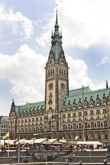 Hamburg, Town Hall, Hanseatic City, Architecture