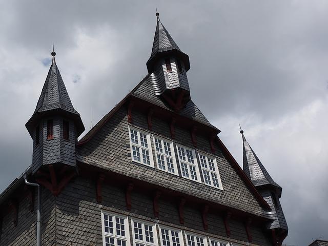Town Hall, Home, Amtshaus, Building, Gable, Turret