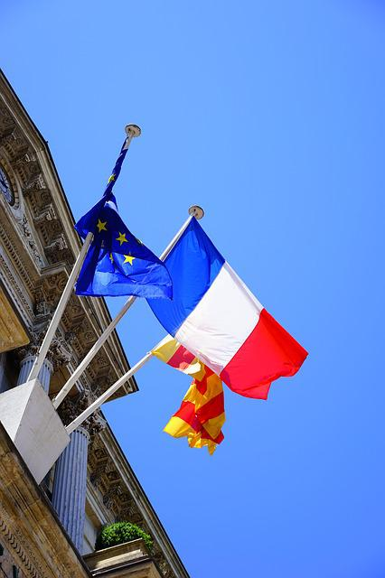 Flags, Blow, France, French Flag, Town Hall, Avignon