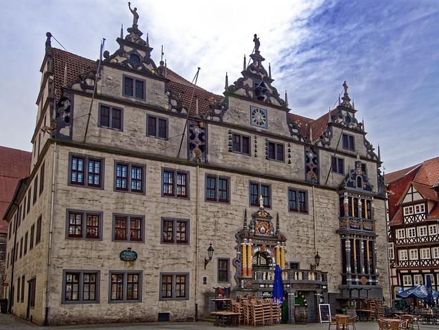 Germany, Hannoversch-münden, Town Hall, Historic Center