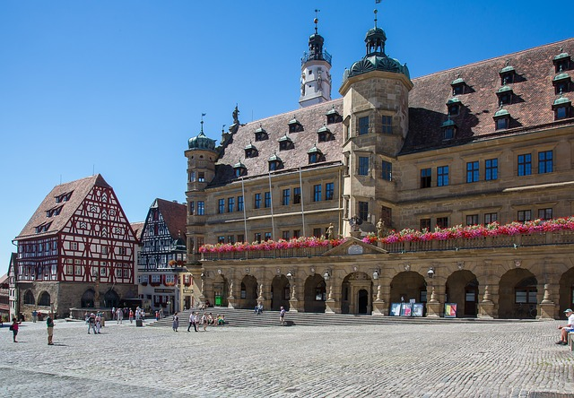 Rothenburg Of The Deaf, Town Hall, Marketplace