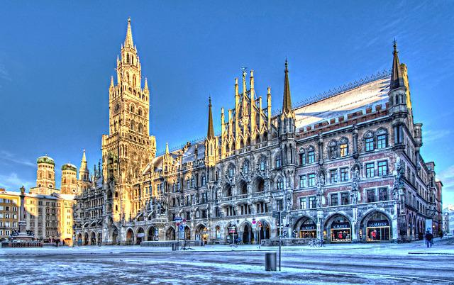 Town Hall, Winter, Snow, Architecture, Building