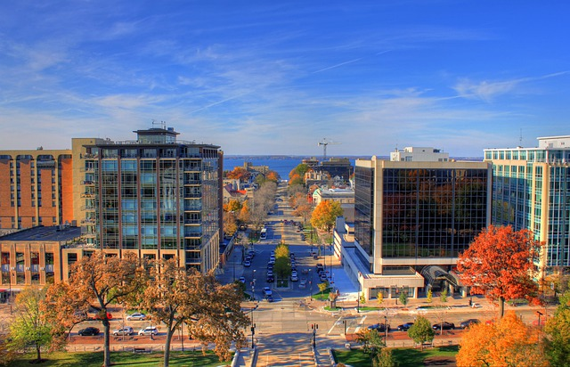 Madison, Wisconsin, Usa, Town, City, Hdr