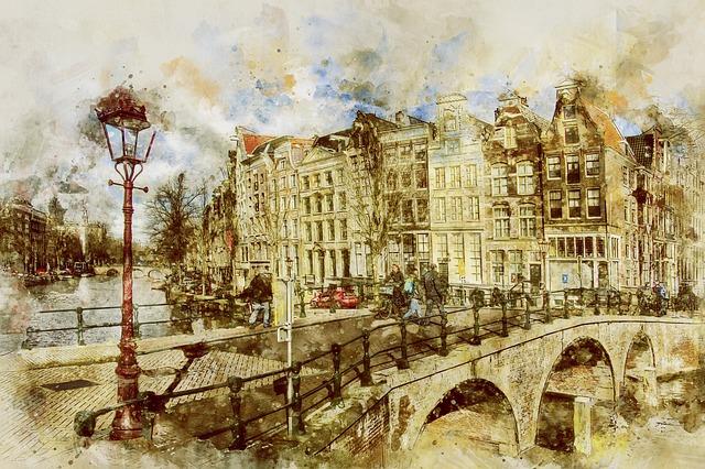Amsterdam, Keizersgracht, Netherlands, Town, City