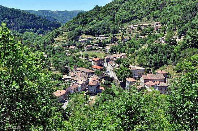 Albon D'ardeche, France, Village, Town, Landscape