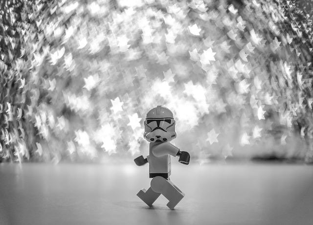 Lego, Starwars, Stormtrooper, Walking, Toy, Plastic