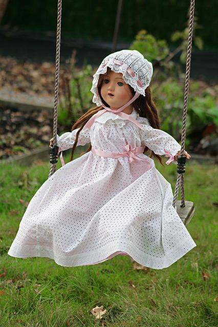 Doll, Swing, Toy, Old Fashioned
