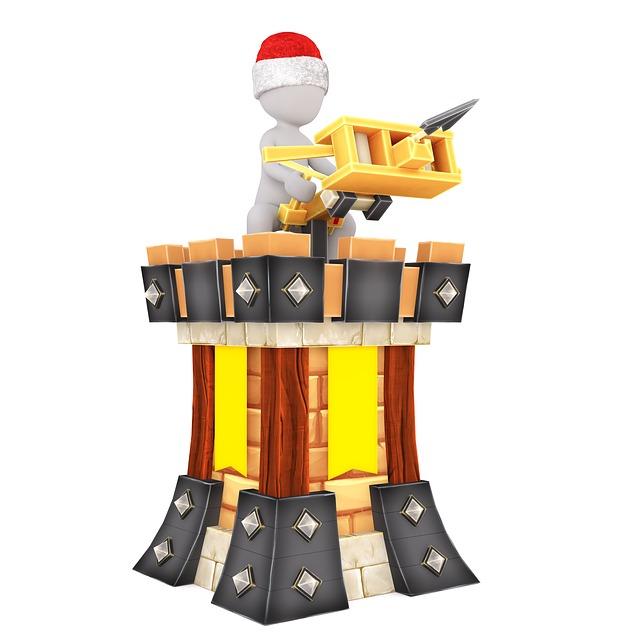 Building Blocks, Castle, Toys, White Male, 3d Model