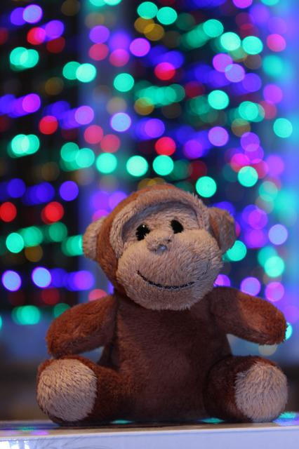 New Year's Eve, Toy, Monkey, Swag, Toys, Christmas