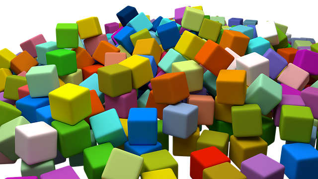 Cubes, Assorted, Random, Toys, Colourful, Colorful
