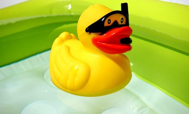 Rubber Duck, Divers, Quietscheente, Yellow, Toys