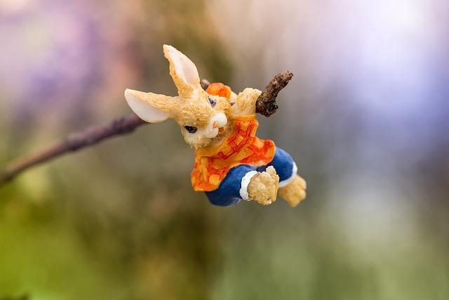 Hare, Easter, Spring, Branch, Floor, Toys