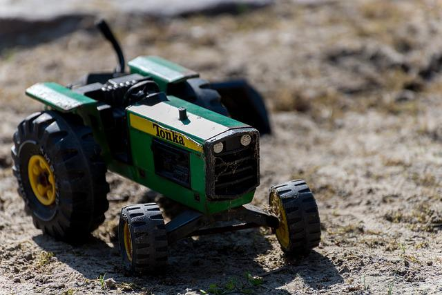 Tractor, Toys, Tonka, Summer