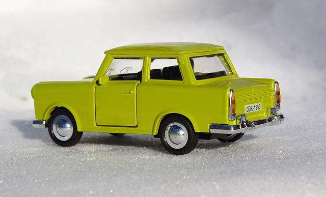 Model Car, Satellite, Auto, Ddr, Trabi, Trabant 601