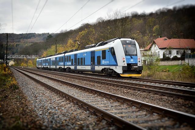 Train, Regiopanter, Bilina-kyselka, Track, Station