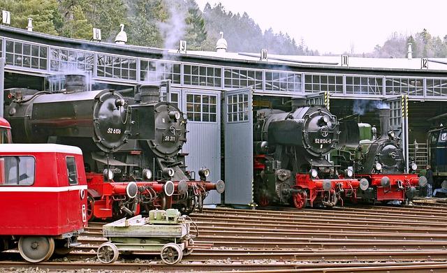 Ring Lokschuppen, Steam Locomotives, Track Star