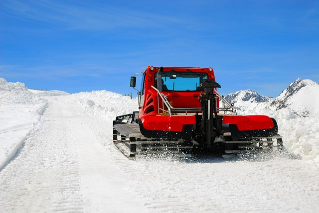 Tractor, Winter, Snowplow, Season, Weather, White