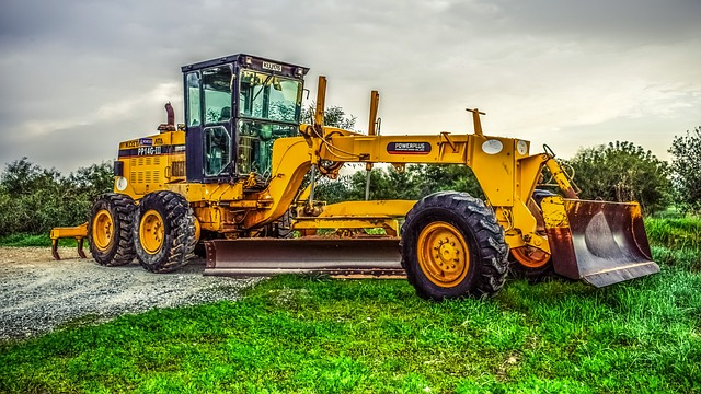 Machine, Tractor, Heavy, Wheel, Grader, Heavy Machine