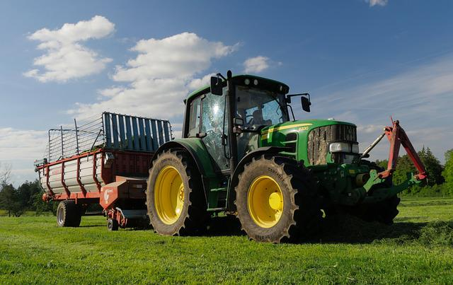 Tractor, Meadow, Agriculture, Tractors, Retract, Bauer