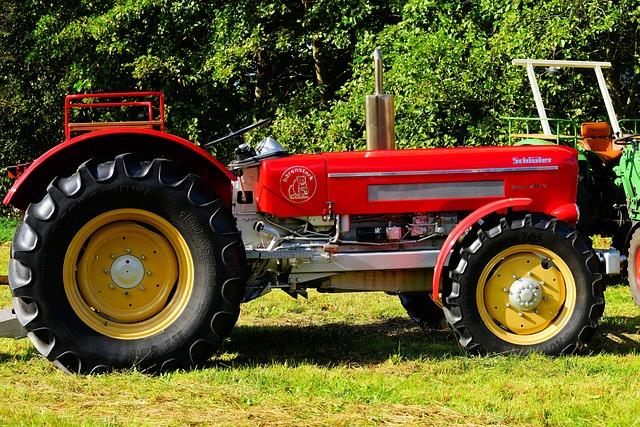 Tractors, Schlüter, Oldtimer, Red, Workhorse, Munich