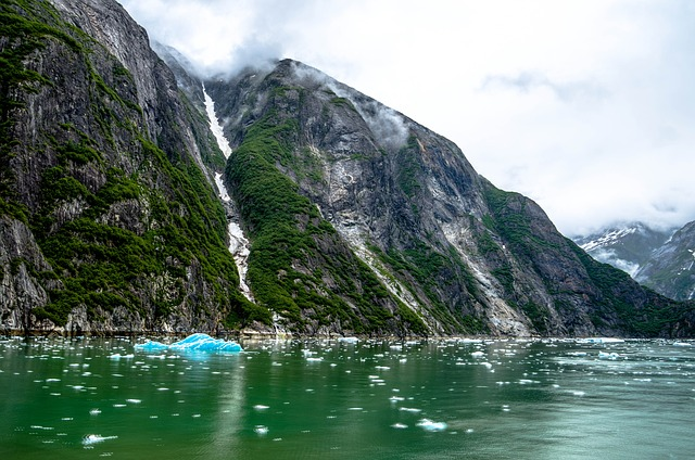 Tracy Arm Fjord, Alaska, Juneau, Mountains, Scenic