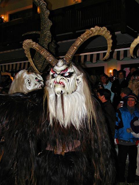 Winter, Austria, Perchtenlauf, Tradition, Masks, Devil