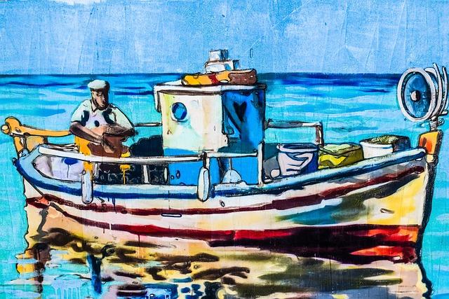 Fishing Boat, Fishing, Tradition, Graffiti, Wall