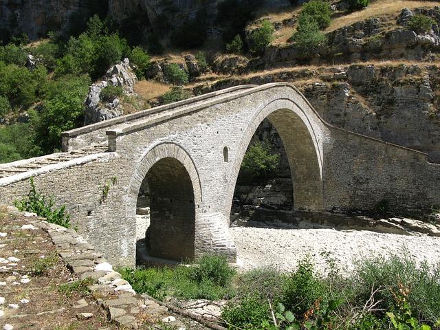 Stone Bridge, Greece, Epirus, Architecture, Traditional